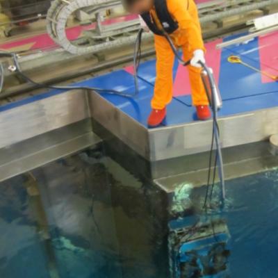 Prestation de service - Nettoyage mur piscine
